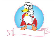 Logotipo estupendo del pato fotos de archivo