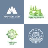 Logotipo exterior ilustração stock