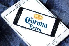 Logotipo extra da cerveja da corona Fotografia de Stock
