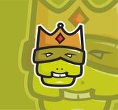 Logotipo feio da mascote do rei ilustração royalty free