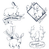 Logotipo feliz de easter Foto de Stock Royalty Free