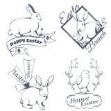 Logotipo feliz de pascua Foto de archivo libre de regalías