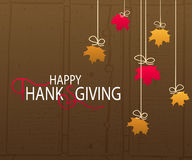 Logotipo feliz del día de la acción de gracias Fotografía de archivo libre de regalías