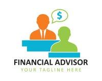 Logotipo financiero del consejero libre illustration