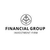Logotipo firme financiero del grupo de la inversión del planeamiento de las finanzas Fotografía de archivo