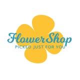 Logotipo floral del salón del balneario del regalo de la floristería Fotos de archivo
