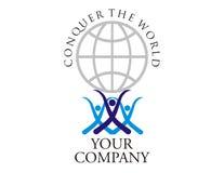 Logotipo - força do trabalho da equipe Foto de Stock Royalty Free