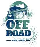 Logotipo fora de estrada do carro, suv do safari, offroader da expedição foto de stock