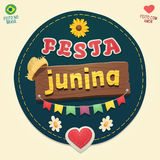 Logotipo fresco do partido de junho do brasileiro Fotografia de Stock Royalty Free