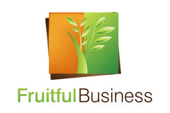 Logotipo frutuoso do negócio Fotografia de Stock Royalty Free