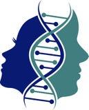 Logotipo genético da cara dos pares ilustração stock