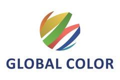 Logotipo global da cor Fotografia de Stock Royalty Free