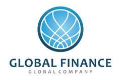Logotipo global da finança Foto de Stock Royalty Free