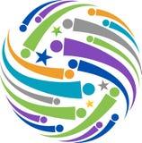 Logotipo global de la gente ilustración del vector