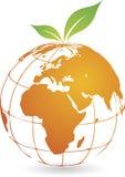 Logotipo global do fruto ilustração do vetor