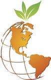 Logotipo global do fruto ilustração stock