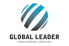 Logotipo global do líder Imagens de Stock