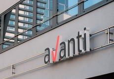 Logotipo GmbH de Avanti imagem de stock royalty free