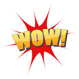 Logotipo gráfico del icono de la diversión del wow Fotos de archivo libres de regalías