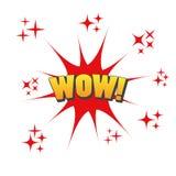 Logotipo gráfico del icono de la diversión del wow Fotos de archivo