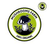Logotipo gráfico para o cogumelo dos edibles do alimento natural ilustração stock