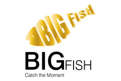 Logotipo grande do negócio dos peixes Fotografia de Stock