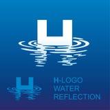 Logotipo H da letra do espelho Fotos de Stock