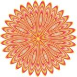 Logotipo hermoso de la flor con color amarillo, rosado y marrón stock de ilustración