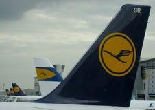 Logotipo histórico de Lufthansa Fotografia de Stock