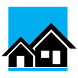 Logotipo Home Foto de Stock
