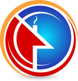 Logotipo Home Imagens de Stock