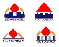 Logotipo Home Fotografia de Stock Royalty Free