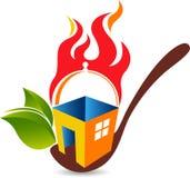 Logotipo home do alimento ilustração stock