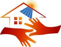 Logotipo home do painel solar Foto de Stock