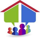 Logotipo home ideal Foto de Stock Royalty Free