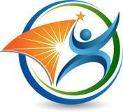 Logotipo humano brilhante ilustração royalty free