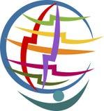 Logotipo humano del globo ilustración del vector