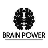 Logotipo humano del poder mental, estilo simple ilustración del vector