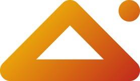 Logotipo/icono de la pirámide Foto de archivo libre de regalías