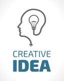 Logotipo - ideia ilustração stock