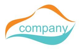 Logotipo ilustrado da companhia Fotografia de Stock