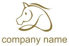 Logotipo ilustrado do cavalo Fotografia de Stock Royalty Free