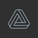 Logotipo impossível do triângulo ilustração royalty free