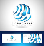 Logotipo incorporado do negócio ilustração stock