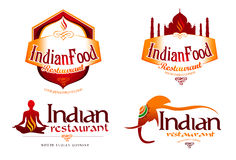 Logotipo indiano do alimento Imagens de Stock Royalty Free
