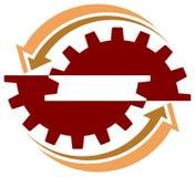 Logotipo industrial ilustração do vetor