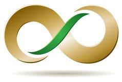 Logotipo infinito do negócio Fotografia de Stock Royalty Free