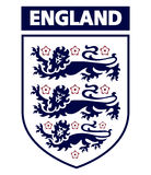 Logotipo inglés del club del fútbol foto de archivo libre de regalías