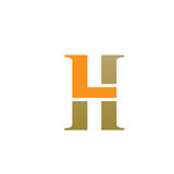 Logotipo inicial 7 de la LH del vector Imágenes de archivo libres de regalías
