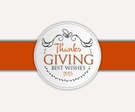Logotipo, insignia e icono felices del día de la acción de gracias Fotos de archivo libres de regalías